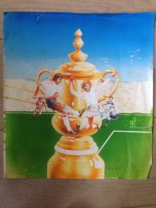 Football Manager original painting for cover